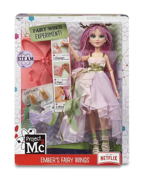 Project Mc2 - EMBERS FAIRY WINGS  - Experiment Doll - NETFLIX